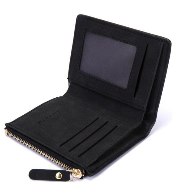 Smidig stående plånbok med dragkedja - Svart Svart