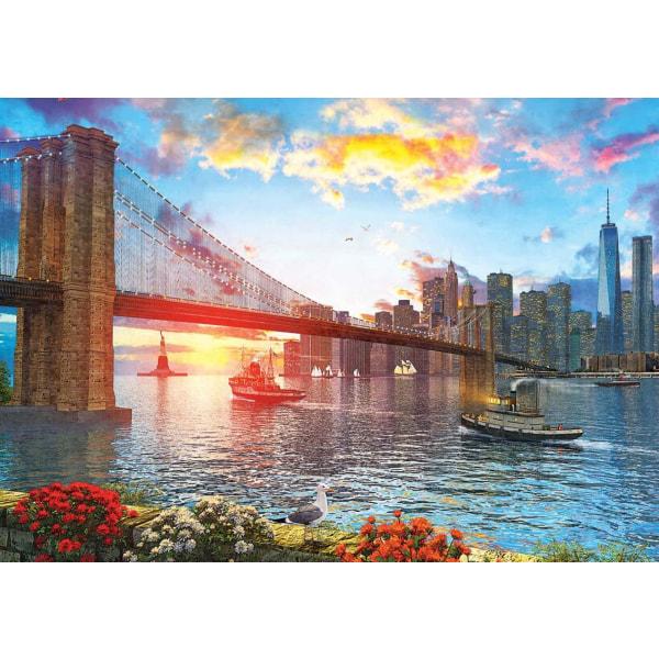 Art Pussel - Solnedgång i New York 1000 bitar multifärg