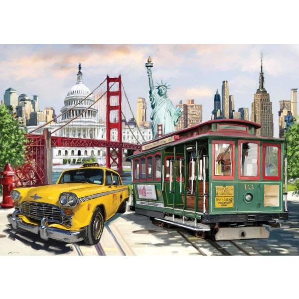 Art Puzzle - Amerikansk kollage 2000 bitar multifärg