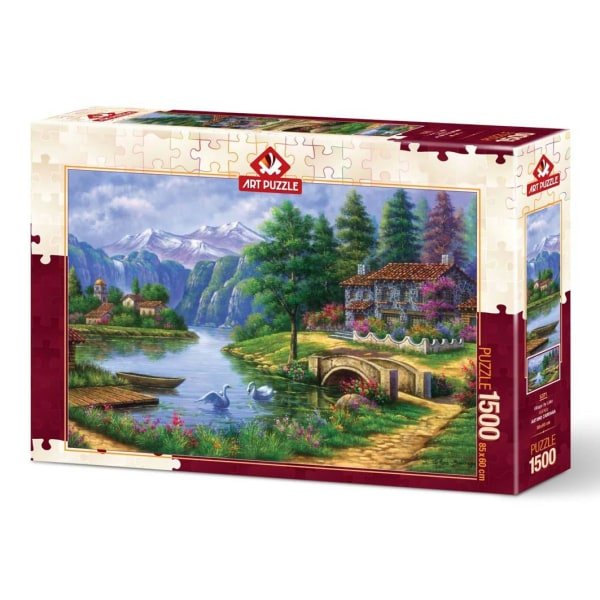Art Puzzle - By vid sjön 1500 bitar multifärg