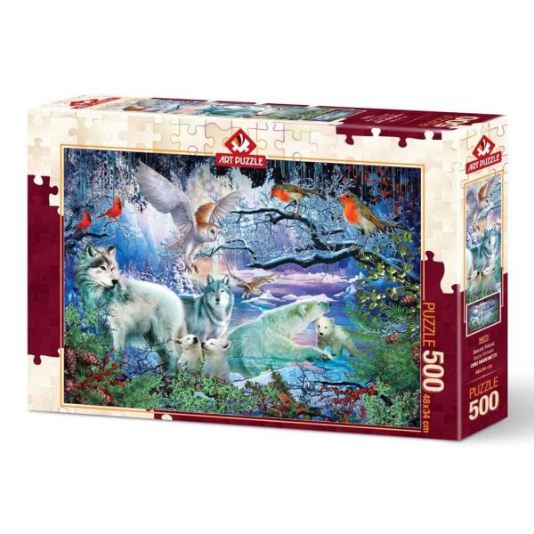 Art Puzzle - Glaciär skog 500 bitar multifärg