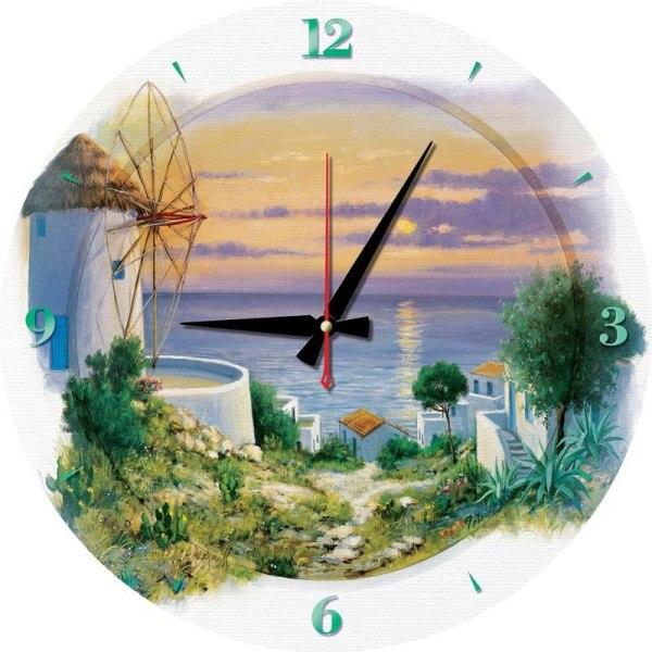 Art Puzzle klocka - Egeiska havet 570 bitar multifärg
