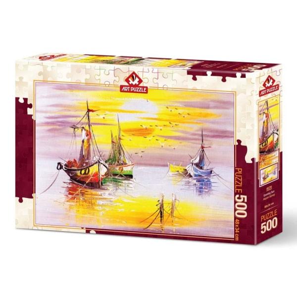 Art Puzzle - Kvällssol 500 bitar multifärg