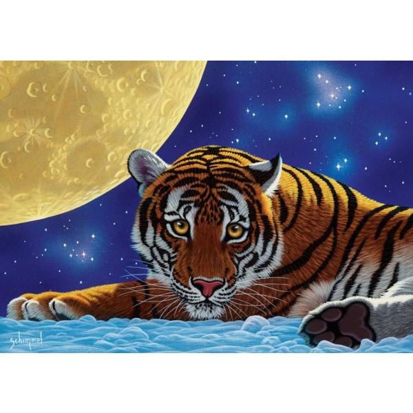 Art Puzzle - Måntiger 500 bitar multifärg