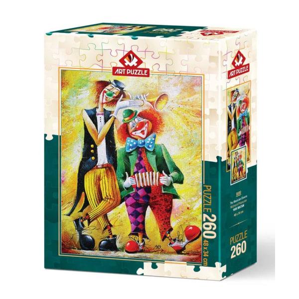 Art Puzzle - Musikaliska clowner 260 bitar multifärg