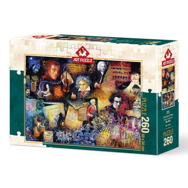 Art Puzzle - Musikälskare 260 bitar multifärg