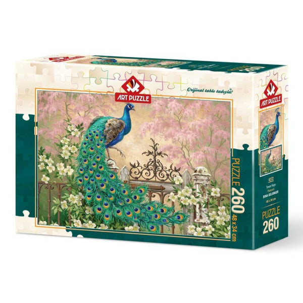 Art Puzzle - Påfågel 260 bitar multifärg
