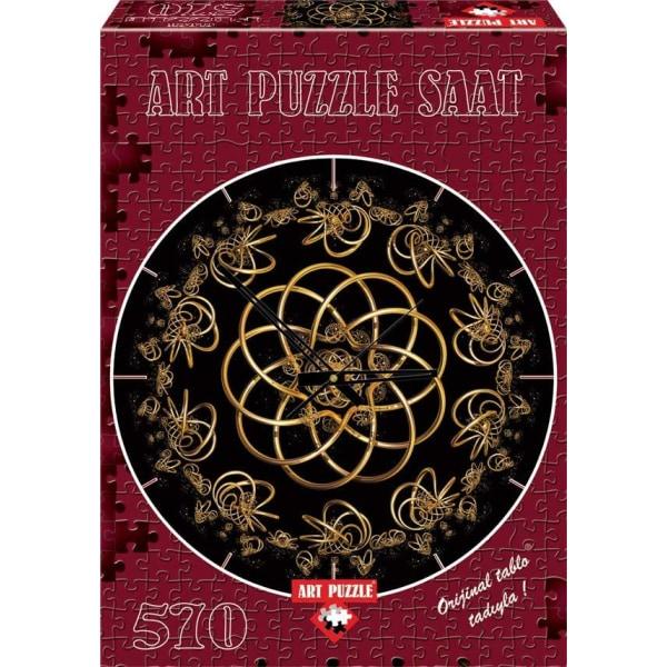 Art Puzzle Pussel klocka - Dansa med natten 570 bitar multifärg