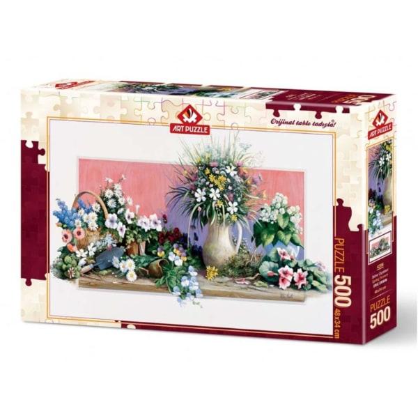 Art Puzzle - Vårblommor 500 bitar multifärg