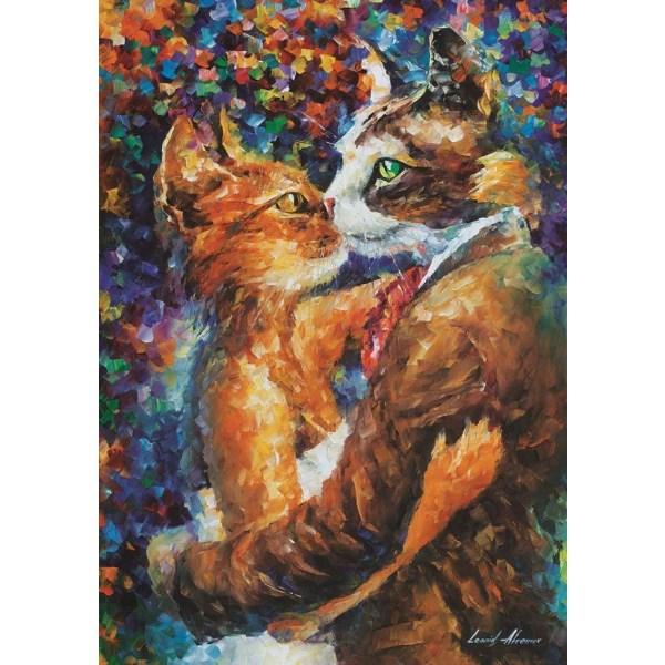 Art Puzzle - Katternas kärleksdans 1000 bitar multifärg