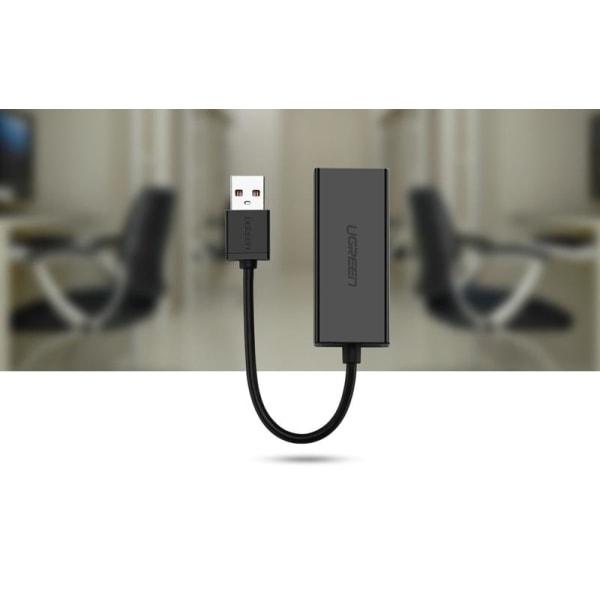 UGreen CR110 USB till RJ45 nätverksadapter Svart