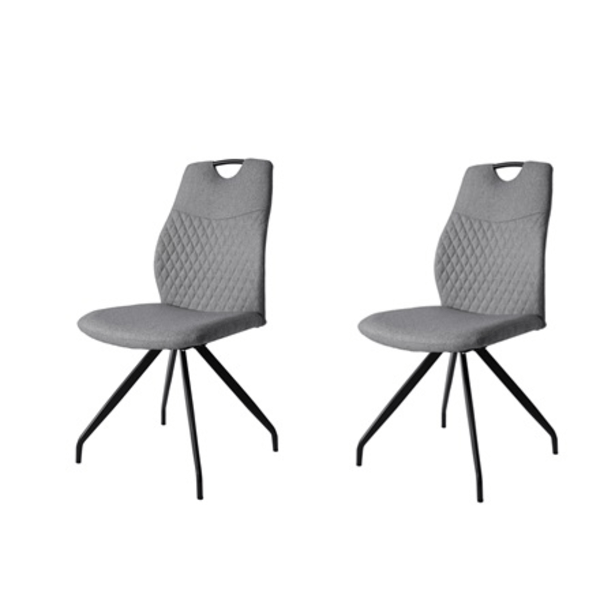 010 snurrbar matsal stol i tyg säljs i 2 pack