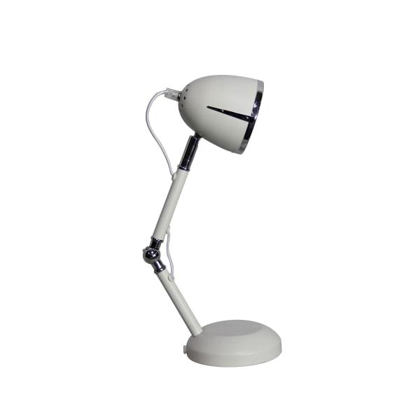 204 Bordslampa vit Ställbar