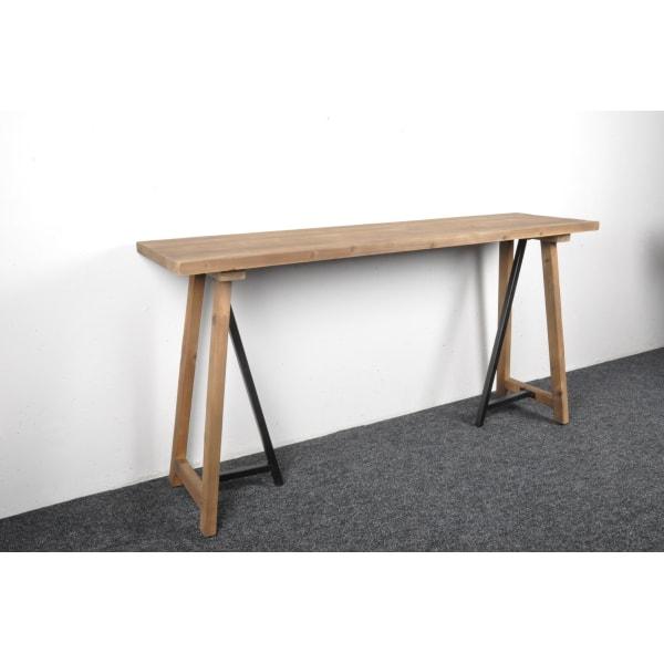 Leo avlastningsbord återvunnet trä  2295 brun/svart
