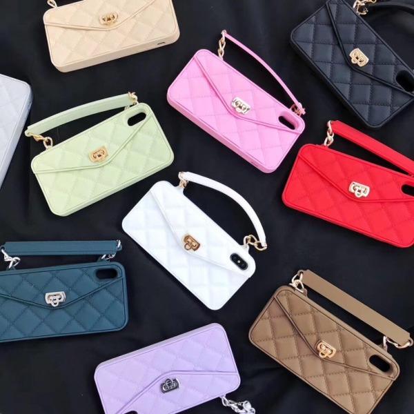 Exklusiv handväska för iPhone 11 med axelrem  Lila one size