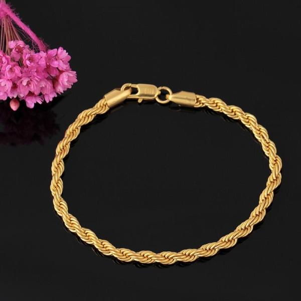Lyxigt armband kedja i 18 karat guldplätering gåva Guld one size