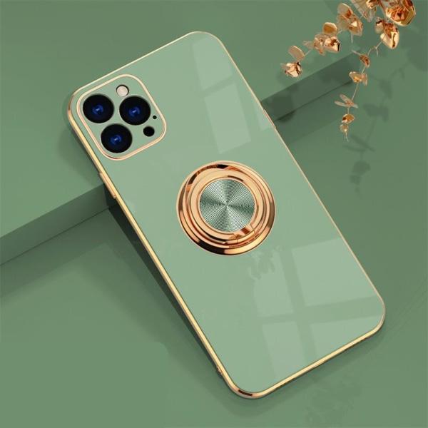 Lyxigt Stilrent Mobilskal Phone11 Pro Max med ring ställ-funktio LightGreen one size