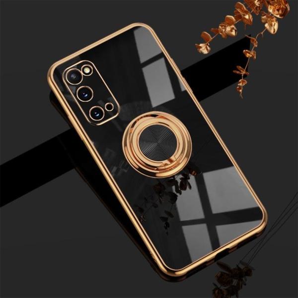 Samsung Galaxy S20 Lyxigt Stilrent skal med ring ställ-funktion  Black one size