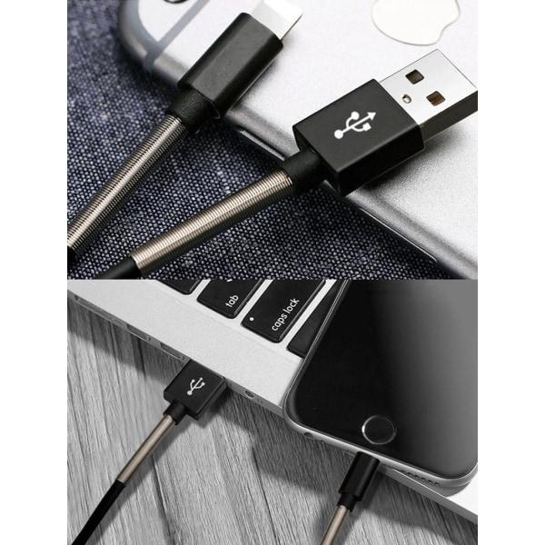 Oförstörbar laddare i metal till Android Micro USB! Vit one size