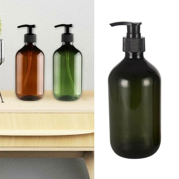 500ML Hand Pump Liquid Soap Foam Dispenser Shampoo Bottles Empty A brown A