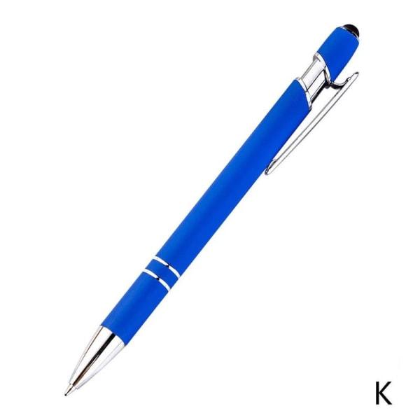 Kulpen Rostfritt stålstång Roterande metallkulspetspenna