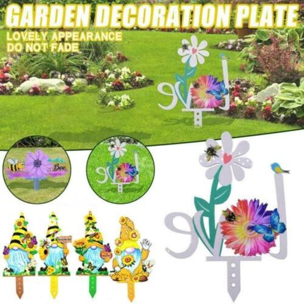 Färgglada Dwarf Bee Flowers Garden Yard Fence Garden Decor