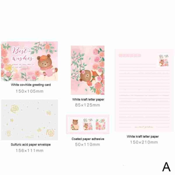 Kreativt handkonto DIY Decor Material Letter & Kuvert Set