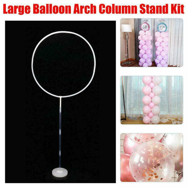 Large Balloon Arch Set Column Stand Base Frame Kit Decor Baby
