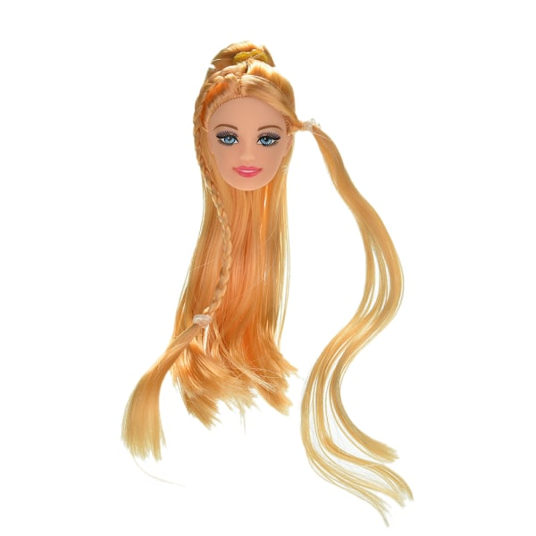 "1 st dockhuvud gyllene långa raka hår för 11 ""Barbies dockor"