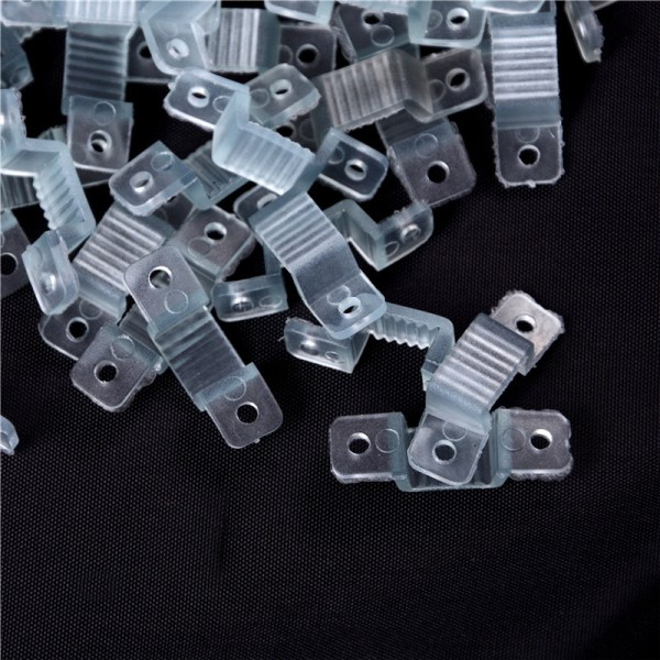 100pcs 10mm LED Fixing Silicon Mounting Clips LED Strip Light C 0