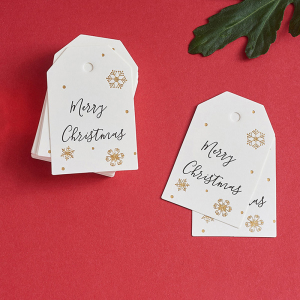 100PCS Christmas DIY Kraft Tags Labels Gift Wrapping Paper Hang G 100pcs