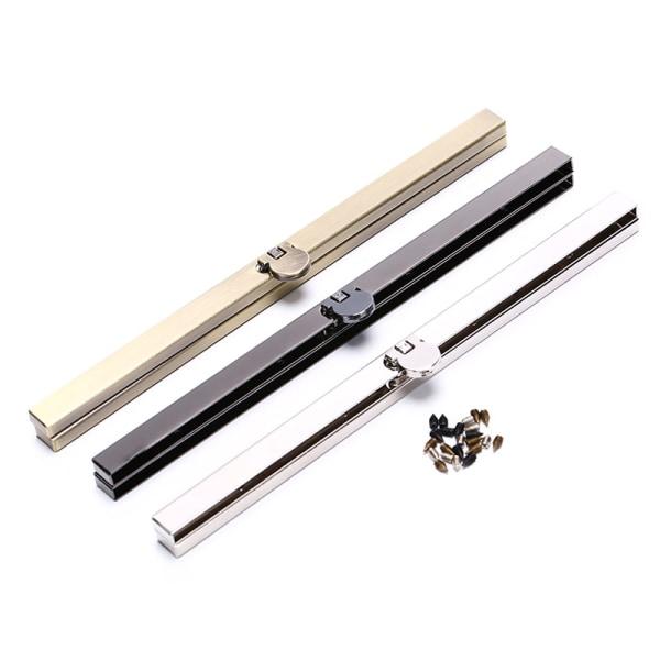 19cm Purse Wallet Frame Bar Edge Strip Clasp Metal Openable Edg Chrome
