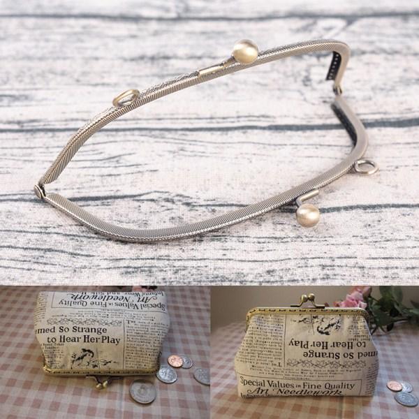 1PC Retro Alloy Metal Flower Purse Bag DIY Craft Frame Kiss Cla 10.5CM