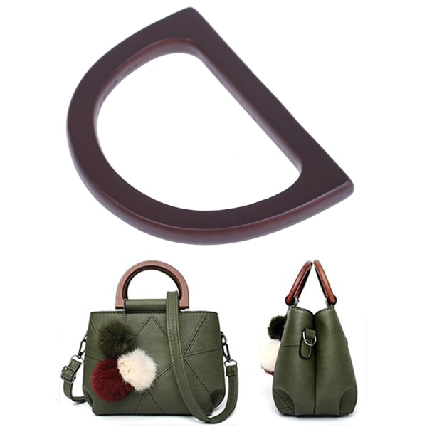1Pcs Wooden Bag Handle Replacement for DIY Purse Making Handbag one size