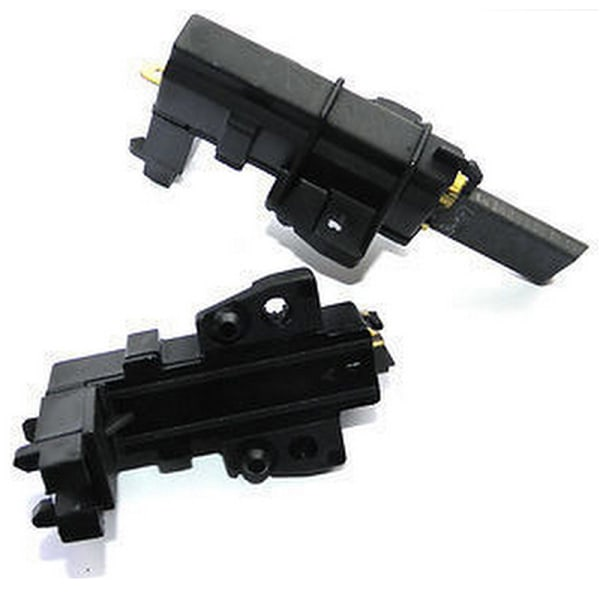 2 x Washing Machine Motor Carbon Brushes For Whirlpool Hoover C Black