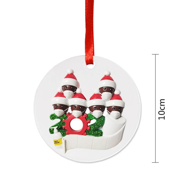 2020 Xmas Christmas Tree Hanging Ornaments Family Round Ornament F