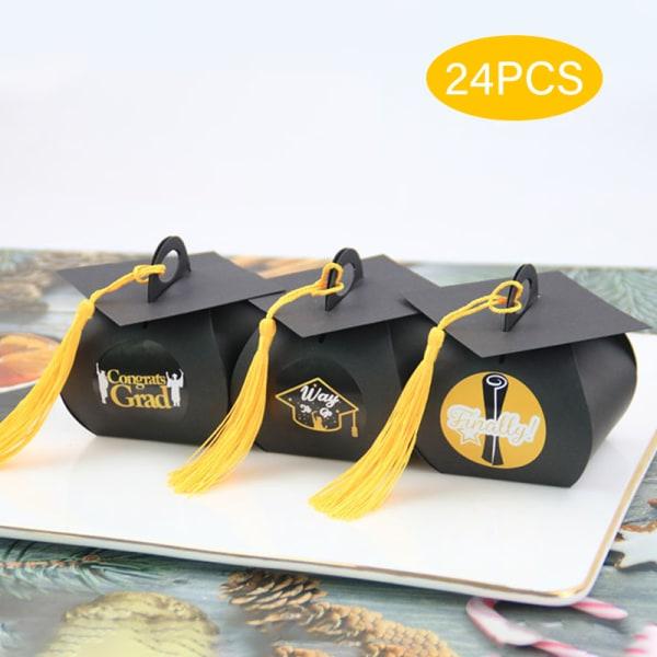 24st ungkarl hatt keps form väska godis låda examen celebratio