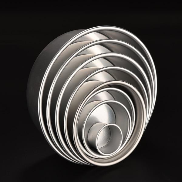 8 storlek aluminiumlegering avtagbar botten rund kaka bakform