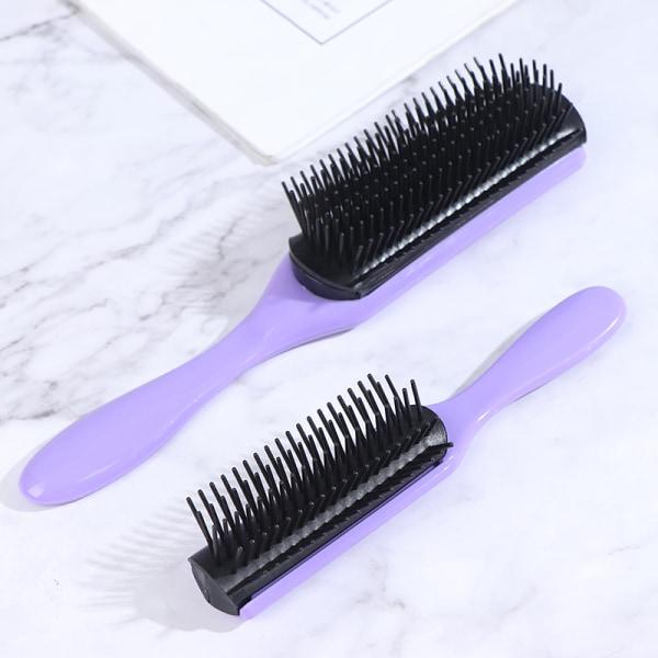 9-rader avtagande hårborste hårbotten massager hår rakt lockigt