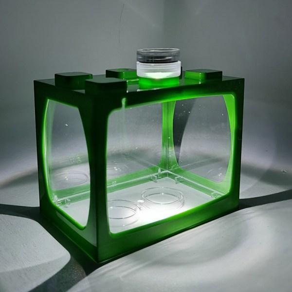 akvariefisk akvarium med lätt batteri typ liten tank aq Green