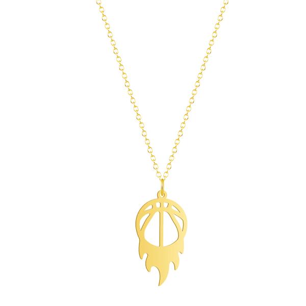 basket hängsmycke halsband vintage sport fitness smycken tillgång Silver