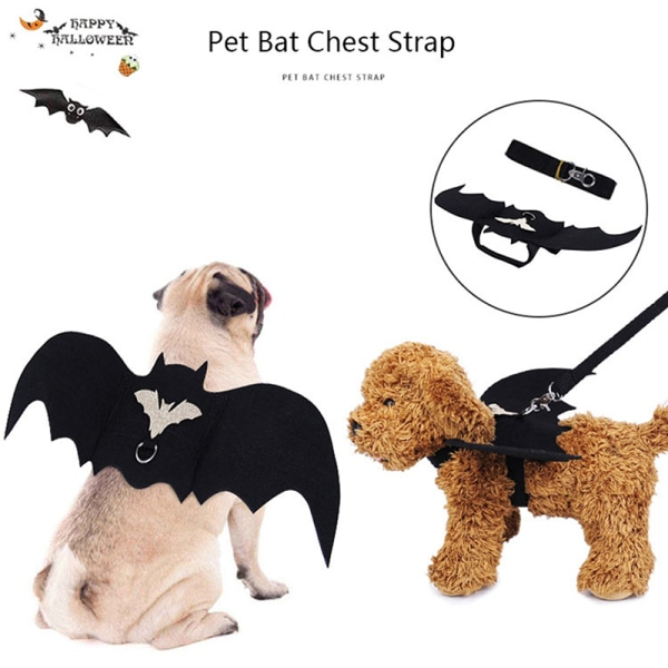 Bat Wings For Pet Dog Cat Costumes Halloween Cosplay Clothing Fu M