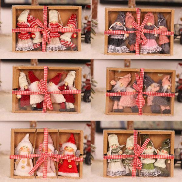 Christmas Ornament Plush Doll Fashion Window Dressing Doll Hangi E
