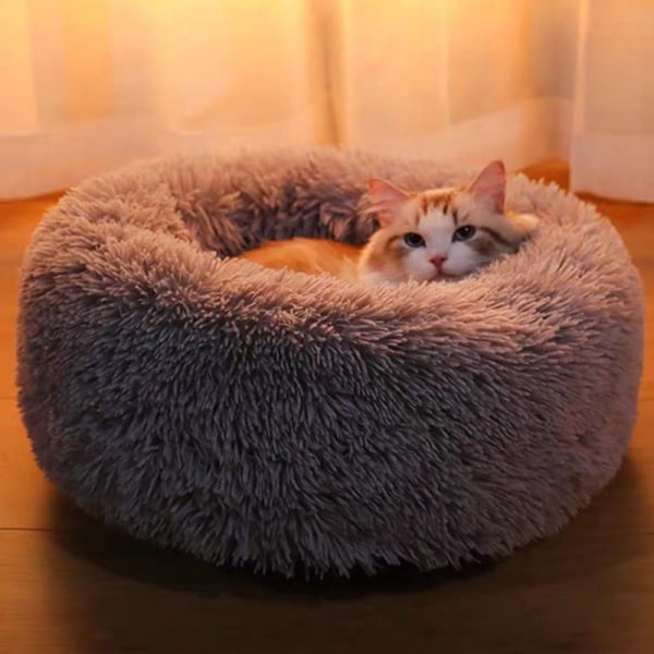 Comfy Calming Dog/Cat Bed Round Super Soft Plush Pet Bed Marshma green M