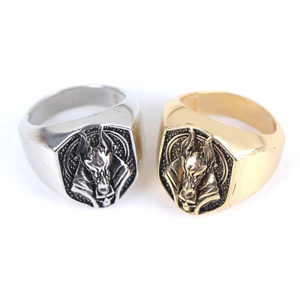 kreativ grim reaper anubis ring forntida egypten mytologi bröllop Gold Perimeter 49mm