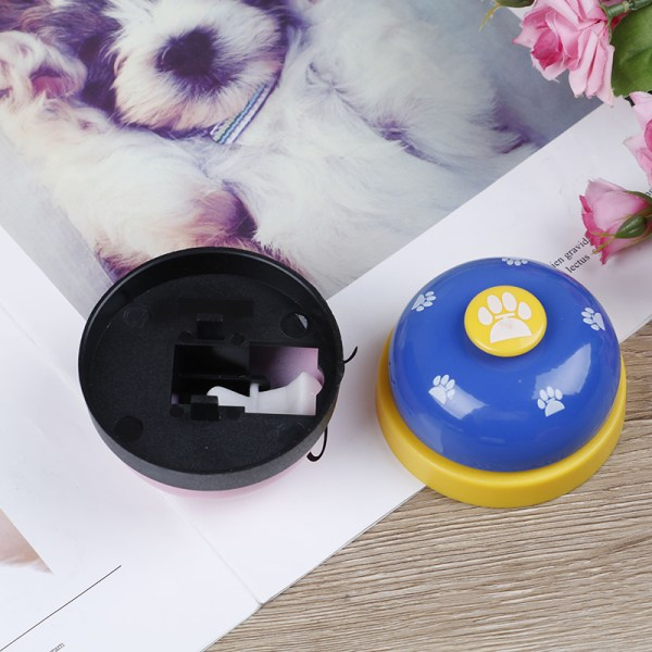 Cute Pet training bell dog toys Puppy Pet Call Dog paw print rin Red onesize