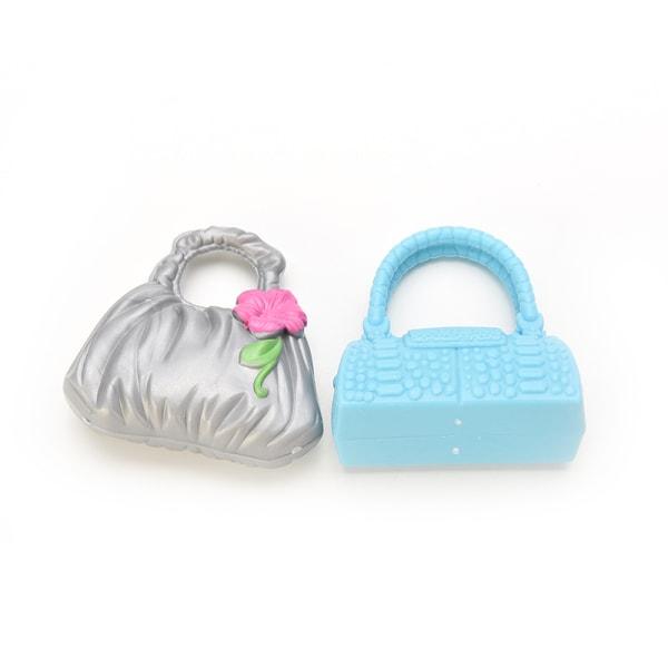 Docktillbehör Väskor Halsband Kammar Skor Örhängen för Barbie D.