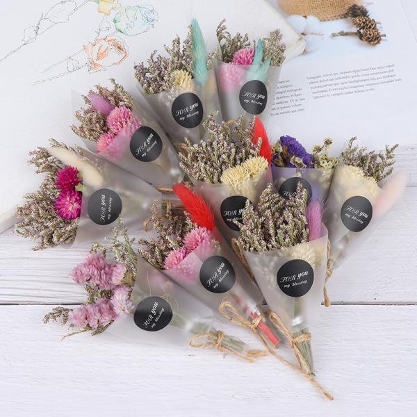 Torrblomma Mini Bukett Konstgjord torkad blomma för alla hjärtans dag ''