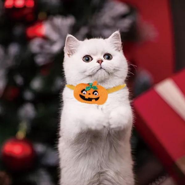 Halloween cat collar Pumpkin Cat or kitten Collar orange Autumn  S snow man