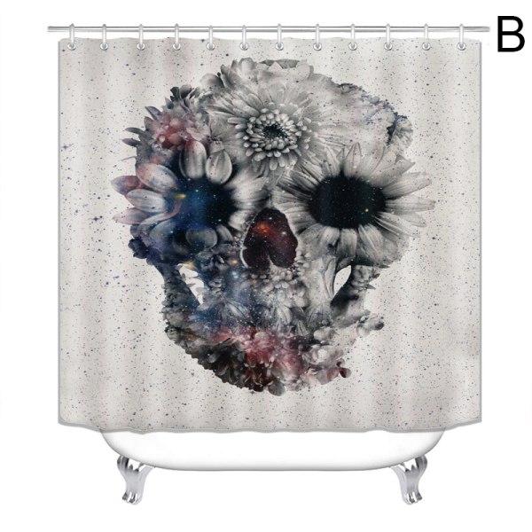 Halloween showers gardinskalle Vattentät tryckt badridå